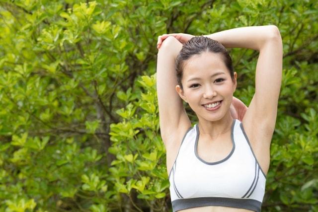 運動して汗をかいている方にも、深部から温めるコアヒート!